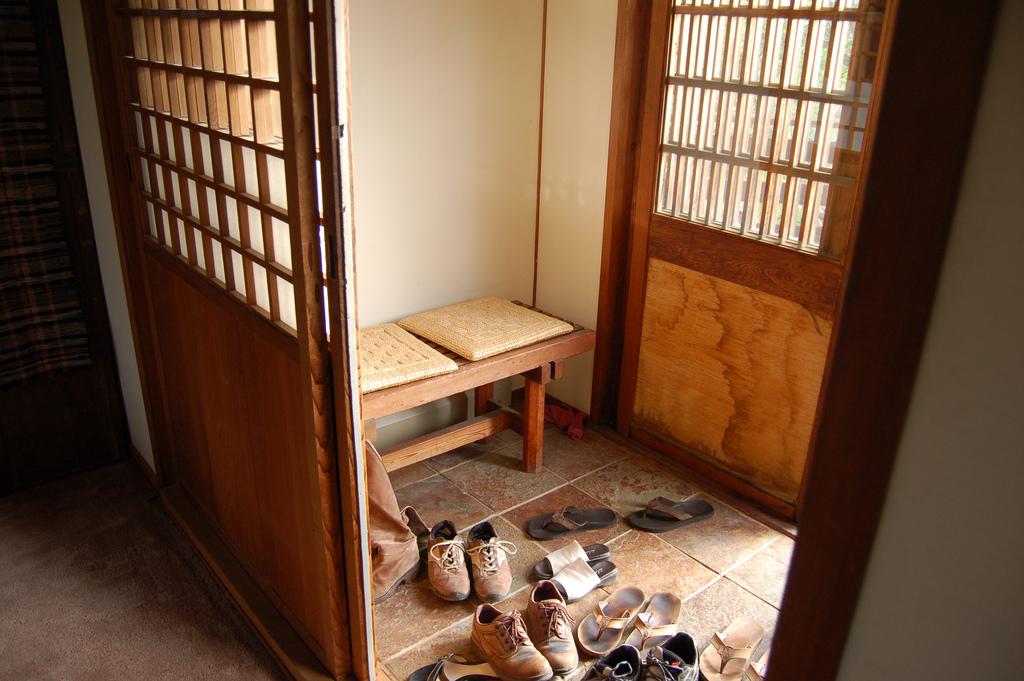 Entr e maison japonaise du japon et des fleurs - Deco japonaise maison ...