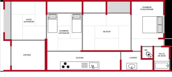 plan maison japonaise moderne. Black Bedroom Furniture Sets. Home Design Ideas