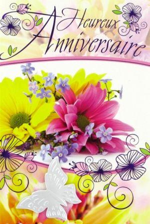 bon anniversaire fleurs