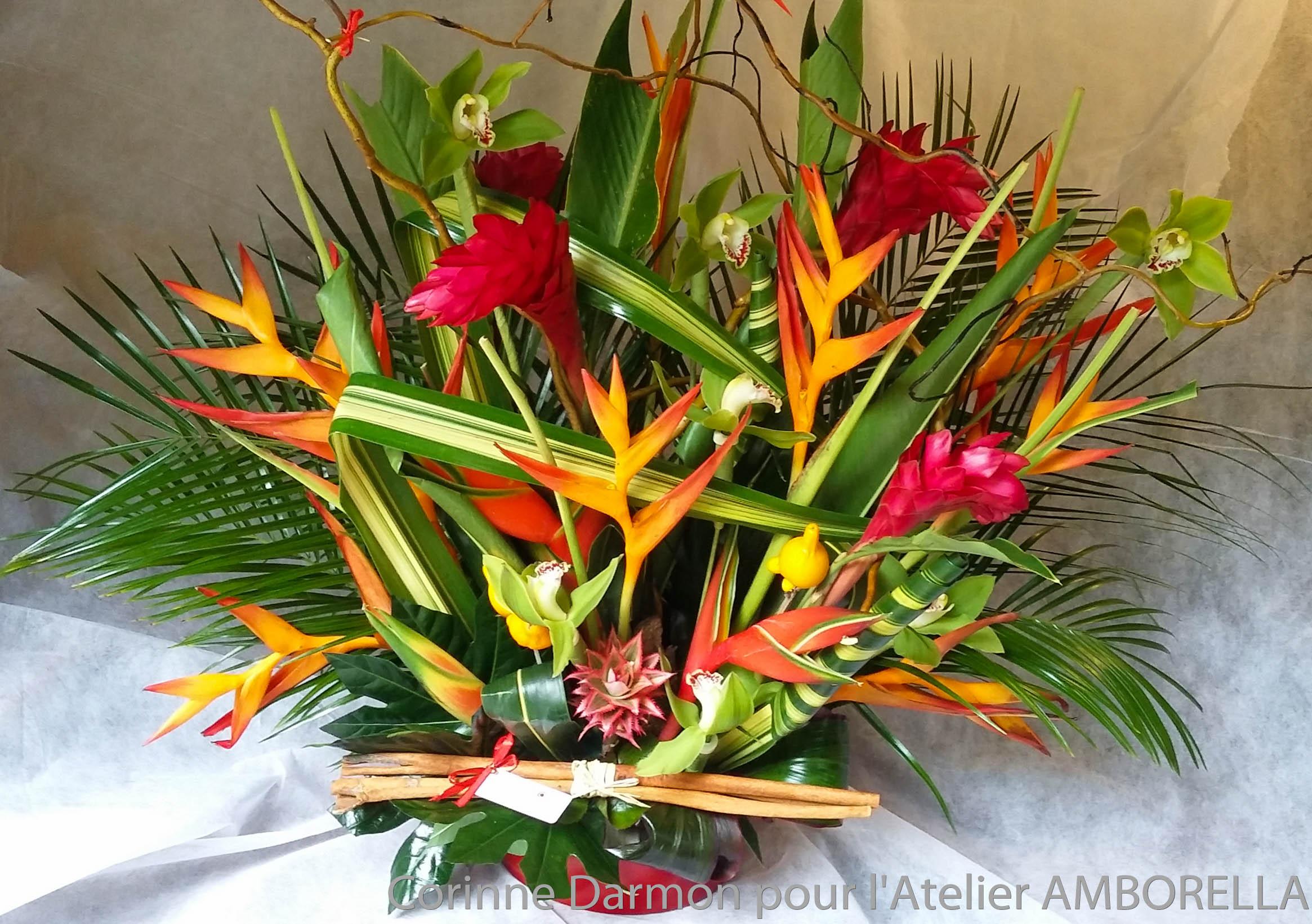 Joyeux anniversaire fleurs exotiques for Bouquet de fleurs 94