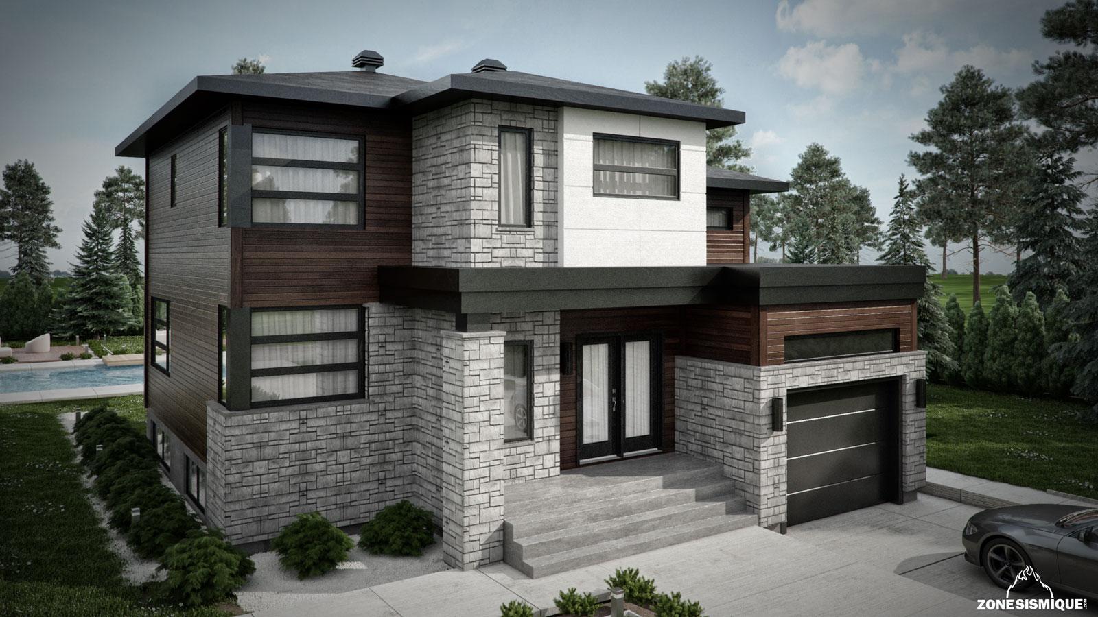 maison moderne du japon et des fleurs. Black Bedroom Furniture Sets. Home Design Ideas