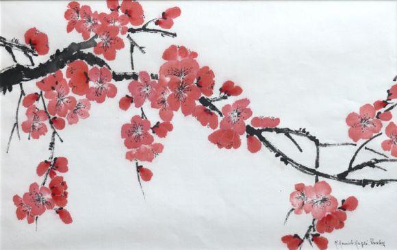 branche cerisier japonais du japon et des fleurs. Black Bedroom Furniture Sets. Home Design Ideas
