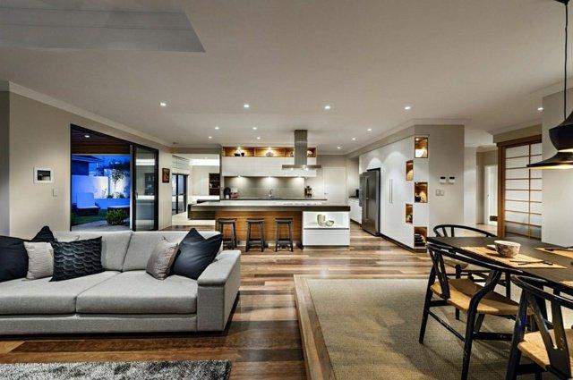 int rieur japonais moderne du japon et des fleurs. Black Bedroom Furniture Sets. Home Design Ideas