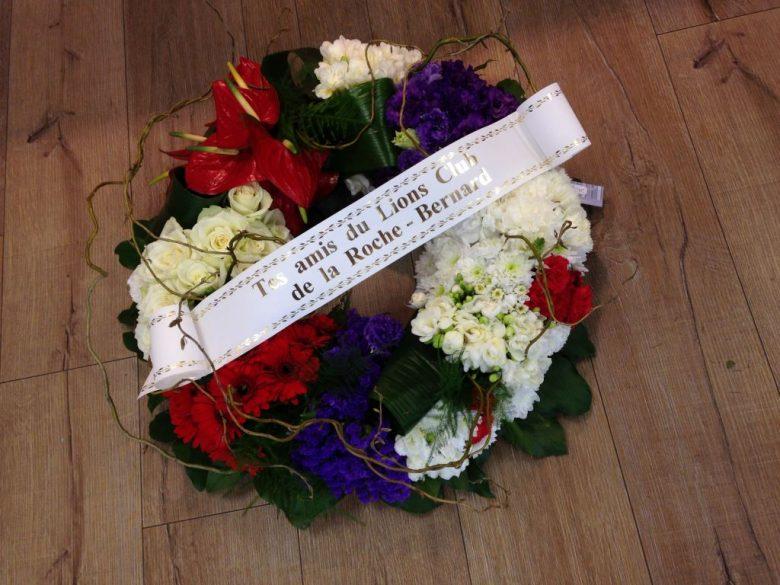 Message pour couronne mortuaire - du japon et des fleurs