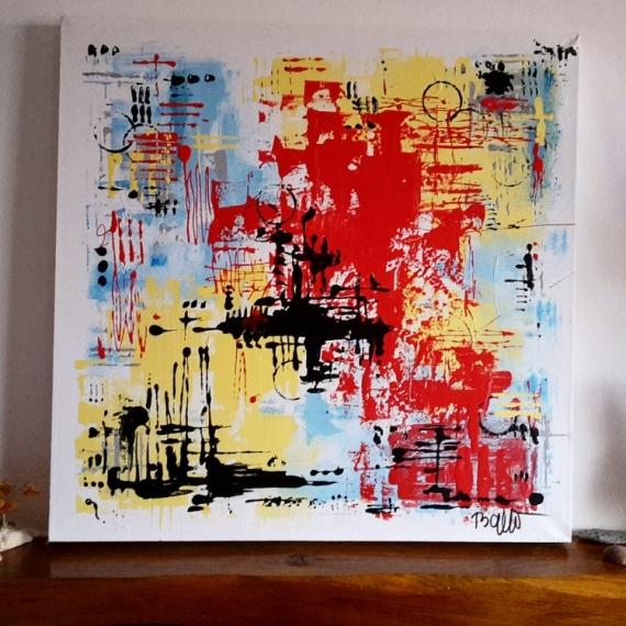 Artiste Peintre Abstrait Contemporain Du Japon Et Des Fleurs